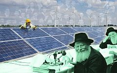 Rabbi Menachem Mendel Schneerson lectured on the intersection of climate, politics and the divine. (Getty Images/JTA Montage)