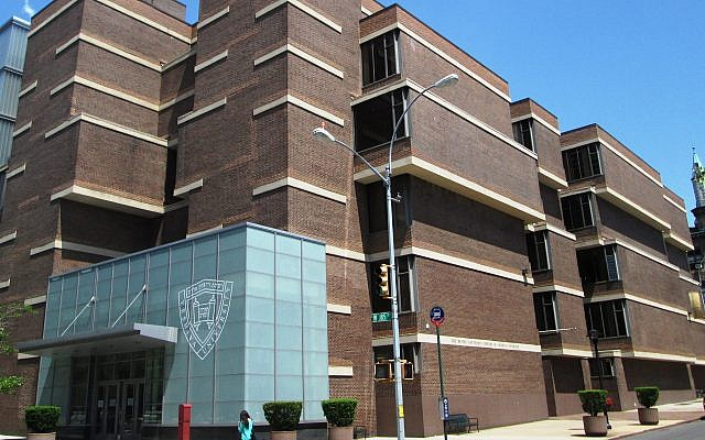 Yeshiva University's Mendel Gottesman Library (Wikimedia Commons/via JTA)