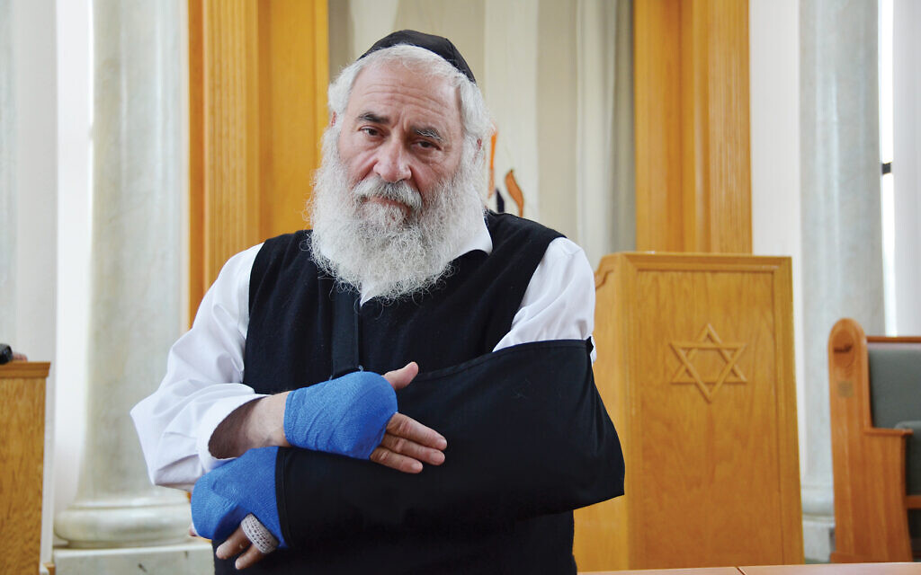 Chabad of Poway Rabbi Yisroel Goldstein was injured during April shooting at his synagogue. The attack killed one worshipper. Courtesy of Chabad