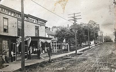 Historian Edward Berenson's family founded Kauffman's Department Store in Massena, N.Y., shown here in 1908. Courtesy Berenson Family Collection