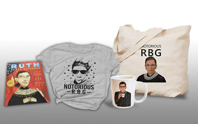 RBG swag: Justice Ginsberg's celebrity has escaped the staid confines of the Supreme Court.