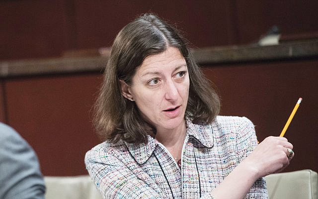 Rep. Elaine Luria (D-Va.) at a House Veterans' Affairs Subcommittee meeting in June 20. She's one of a number of national security veterans to call for impeachment. Tom Williams/CQ Roll Call/Getty Images