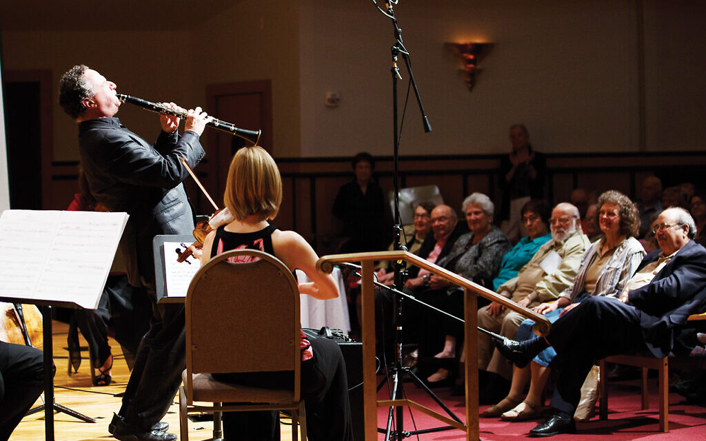 Clarinetist David Krakauer at the Pittsburgh Music Festival in 2012, with some of the musicians he'll be playing with at the centenary show. Alisa Garin