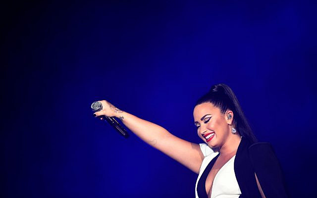 US singer Demi Lovato performs on stage during the Rock in Rio Lisboa music festival at Bela Vista Park in Lisbon, on June 24, 2018. Getty Images