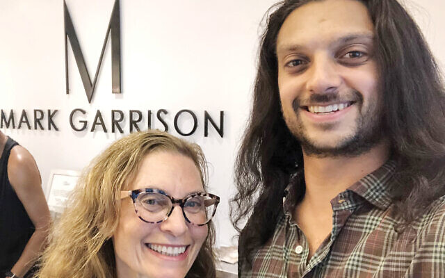 """The author and her son Jared, whose hair will be part of a high-tech """"power cap"""" for a needy cancer patient. Photos courtesy of Bethany Kandel"""