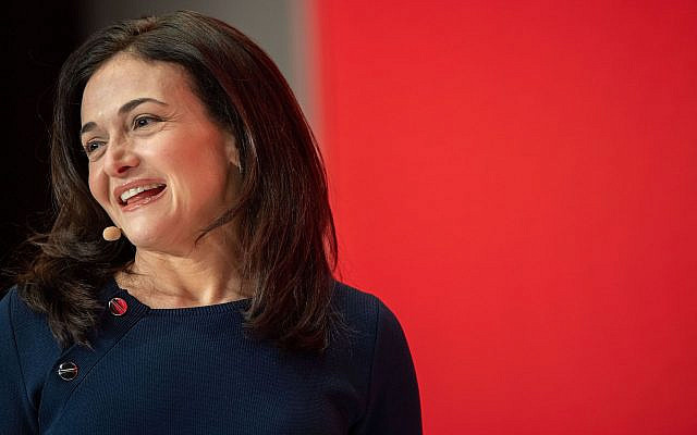 Sheryl Sandberg speaks during the Digital-Life-Design conference in Munich, Germany, Jan. 20, 2019. (Lino Mirgeler/DPA/AFP via Getty Images/via JTA)