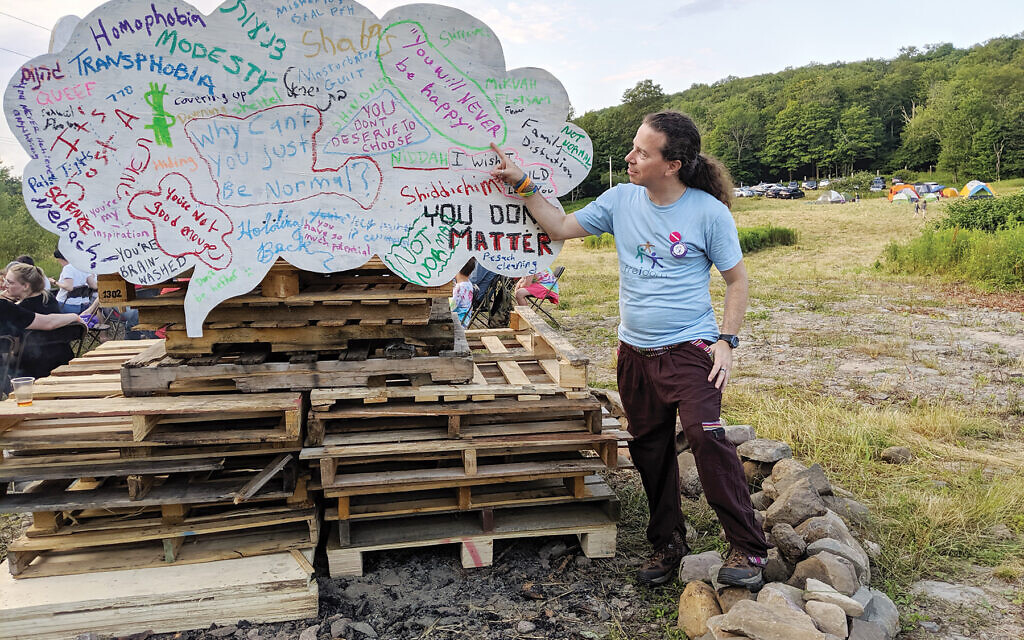 Freidom founder Gene Steinberg at the group's first FreiFest last summer in upstate New York. Courtesy of Alisa Partlan