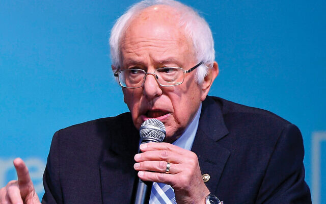 Sen. Bernie Sanders, who told the recent J Street conference that he would divert some Israel aid to Gaza. Getty Images