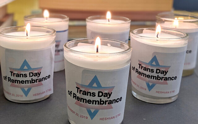 CBST and Keshet suggested people post photos of their lit yahrtzeit candles on social media to honor those murdered for being transgender.
