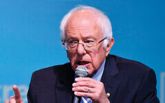 Sen. Bernie Sanders addresses the J Street conference Oct. 28. Getty Images