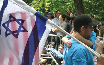 Israeli and American flags at last year's Celebrate Israel Parade along Fifth Avenue. Nora Wesson/JW
