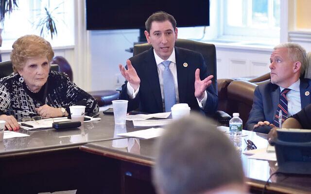 Council Member Chaim Deutsch attends a budget negotiating team meeting in 2018. (New York City Council/John McCarten)