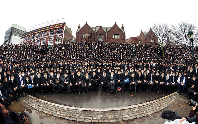 Chabad's emissaries from all over the world pose in front of the group's headquarters in Crown Heights for what has become an iconic photograph. Photos courtesy of Chabad