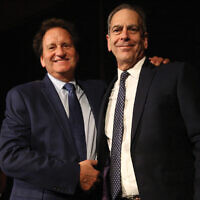 Jewish Week publisher Rich Waloff, left, and new editor in chief Andrew Silow-Carroll.