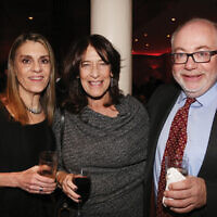 El Al's Sheryl Stein, Jewish Week's Thea Wieseltier and UJA-Federation's Graham Cannon.
