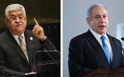 Palestinian Authority President Mahmoud Abbas and Israeli Prime Minister Benjamin Netanyahu are fighting for their political lives. Photos by Getty Images