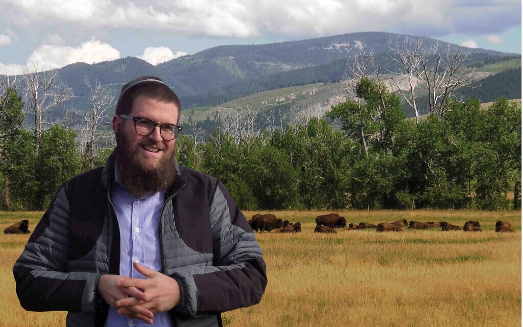 "Rabbi Chaim Bruk, Chabad's man in Montana, in scene from the documentary ""The Rabbi Goes West."" Therabbigoeswest.com"