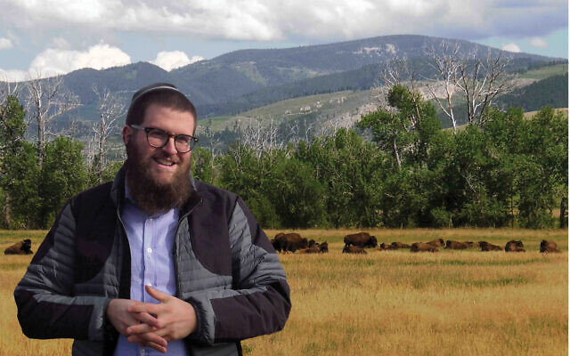 "Rabbi Chaim Bruk, Chabad's man in Montana, in scene from the documentary ""The Rabbi Goes West."" Therabbigoeswest.com"