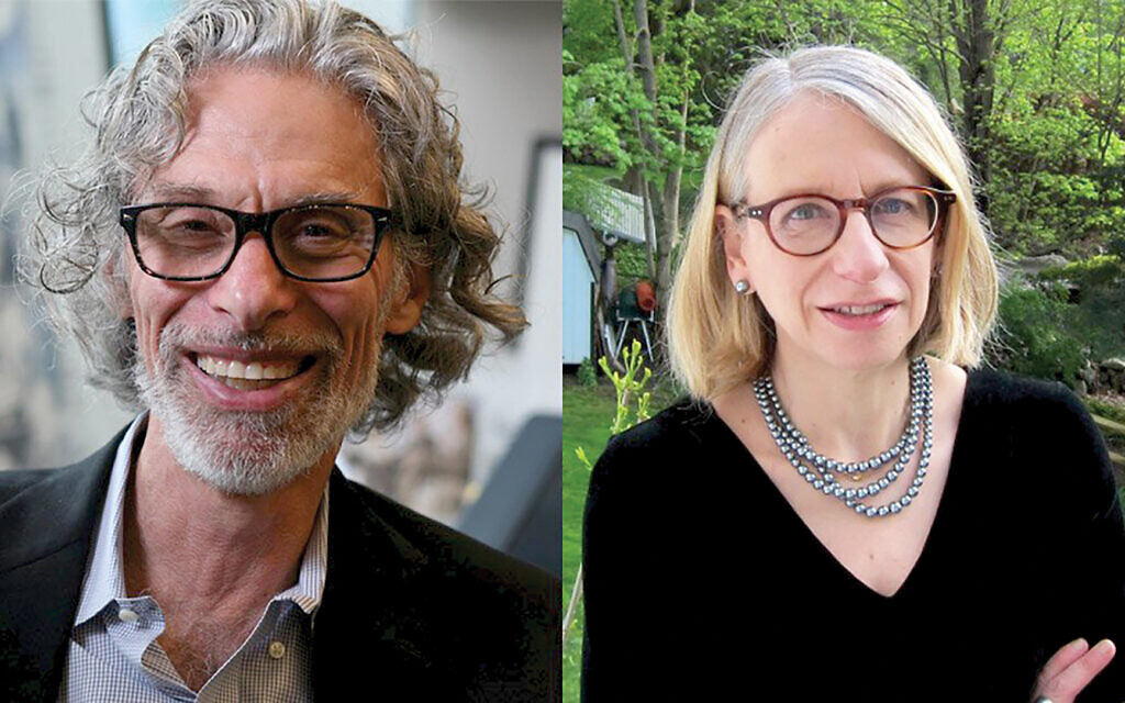 """New Yorker cartoon editor Bob Mankoff (L) has collected the best of the magazine's Jewish strips in """"Have I Got a Cartoon For You! The Moment Magazine Book of Jewish Cartoons."""" Roz Chast (R) wrote the foreword. The two join in conversation at the 92Y."""