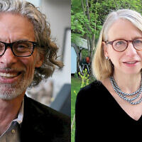 "New Yorker cartoon editor Bob Mankoff (L) has collected the best of the magazine's Jewish strips in ""Have I Got a Cartoon For You! The Moment Magazine Book of Jewish Cartoons."" Roz Chast (R) wrote the foreword. The two join in conversation at the 92Y."