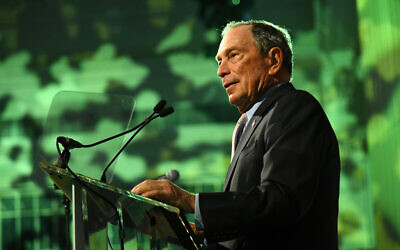 Michael Bloomberg speaks onstage during a Gala for Hudson River Park in New York City in Oct. 2019. The former New York mayor may launch a bid for the 2020  presidential elections. Getty Images