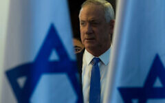 Benny Gantz, Blue and White party leader attends a press conference after failing to form a goverment on November 20, 2019 in Tel Aviv, Israel.  Israel may face third election after Benny Gantz and Benjamin Netanyahu struggled to form coalition.  Getty Images