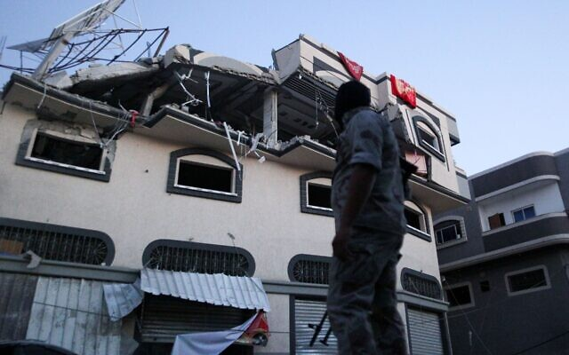 "The home of Palestinian Islamic Jihad senior commander Baha Abu al-Ata was hit by an Israeli air strike in Gaza City on Nov. 12, 2019, killing al-Ata and his wife in what the Israel Defense Forces called a ""surgical strike."" JTA"