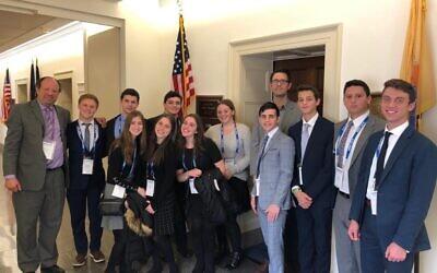 The author with her classmates on on Capitol Hill. Photos courtesy of Racheli Burack.
