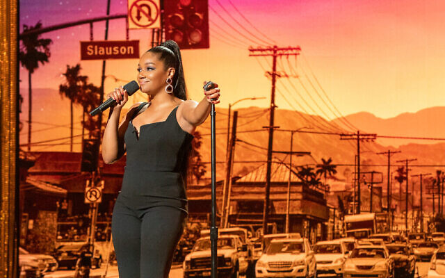 Tiffany Haddish in her 2019 Netflix comedy special, 'Black Mitzvah.' (Courtesy Netflix/via Times of Israel)