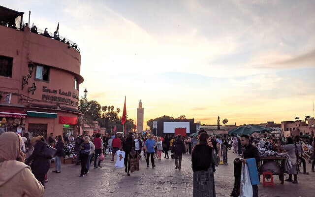 A square in Marrakesh. The author's trip to Morocco was full of contradictions. Photos by Eli Reiter