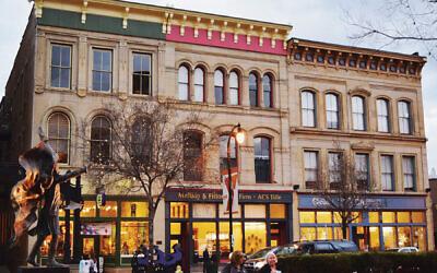 High Street in downtown Hamilton, Ohio. Wikimedia Commons