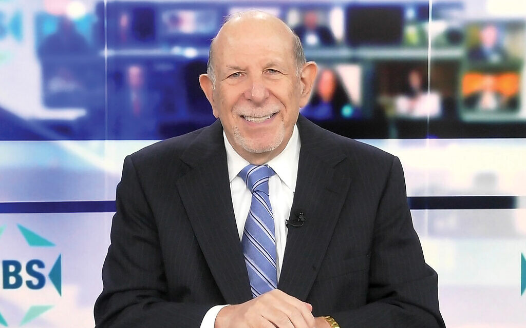 Jewish Broadcasting Service founder Mark Golub on the network's new set. Photos courtesy of JBS
