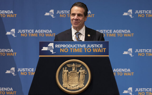"New York Gov. Andrew Cuomo, shown in January 2019, said that ""With anti-Semitism and hate crimes on the rise,"" his administration would ""do all we can to protect our communities against the threats we face."" (Lev Radin/Pacific Press/LightRocket via Getty Images/via JTA)"