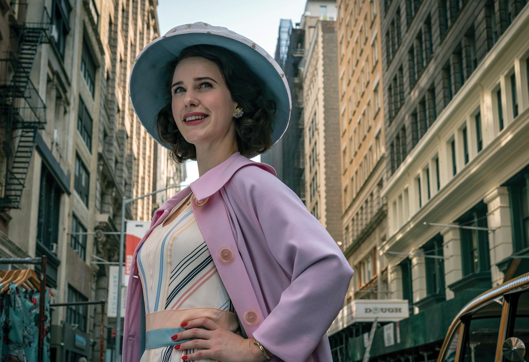 Rachel Brosnahan as Midge Maisel. Courtesy of Tiffany Shinn via Amazon Studios