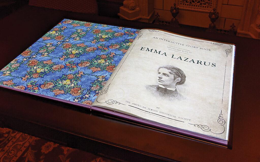 Book in Emma Lazarus' parlor.  Gloria Machnowski
