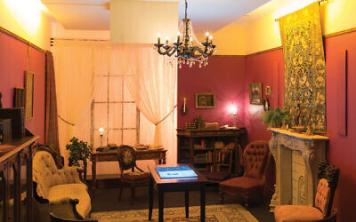 Emma Lazarus' sitting room in her Union Square brownstone.  Shayna Marchese