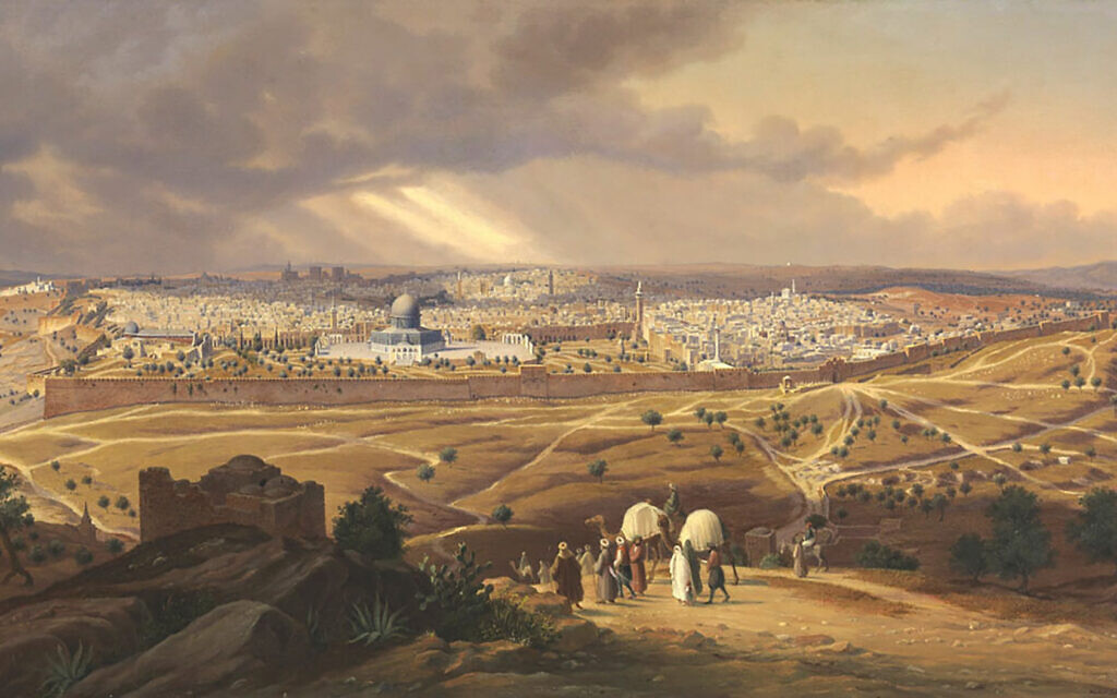 A view of Jerusalem from the Mount of Olives in 1841, in Twain show. Courtesy of Dahesh Museum of Art