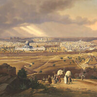 A view of Jerusalem from the Mount of Olives in 1841. (Courtesy of Dahesh Museum of Art)