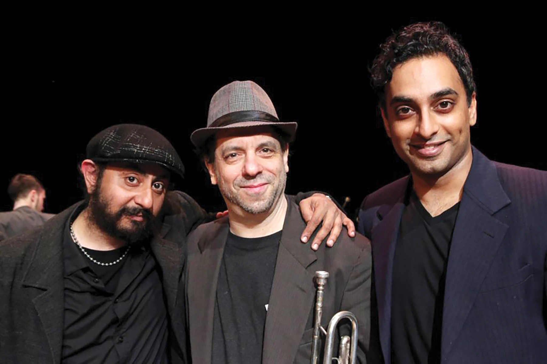 Deep Singh, Frank London and Manu Narayan of the Indian-klez group Sharabi. Lia Chang