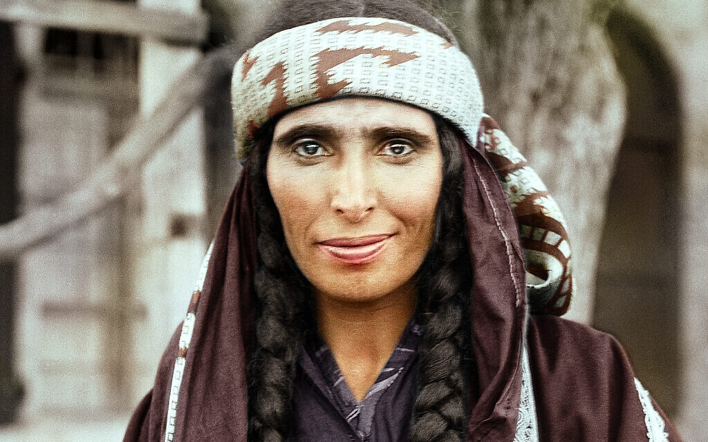 A Bedouin woman in Palestine, early 1900s. Courtesy of Colorize My Past