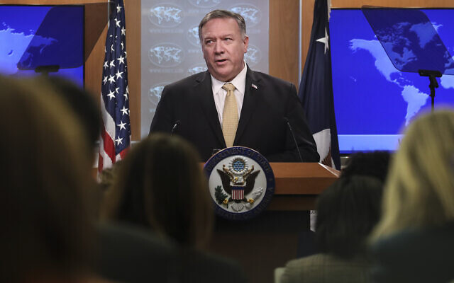 U.S. Secretary of State Mike Pompeo speaks during a press conference at the U.S. Department of State on November 18, 2019 in Washington, DC. Drew Angerer/Getty Images