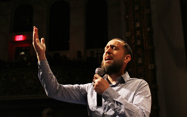 Yosef Goldman at last week's Rising Song Initiative at B'nai Jeshurun on the Upper West Side. Ahron Moeller