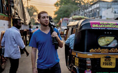 """Drew """"Binsky"""" Goldberg, seen here in Kerala, India is en route to being the youngest Jew to travel to every country in the wold. Courtesy"""