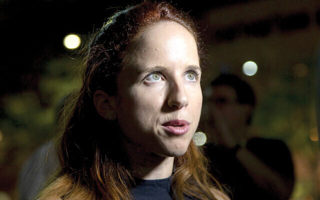 Stav Shaffir speaks to reporters in Tel Aviv ahead of Israeli national elections last September. Getty Images