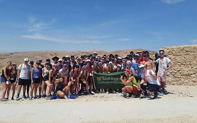 WashU students in Israel on Chabad trip. Courtesy of WashU Chabad Wikimedia Commons