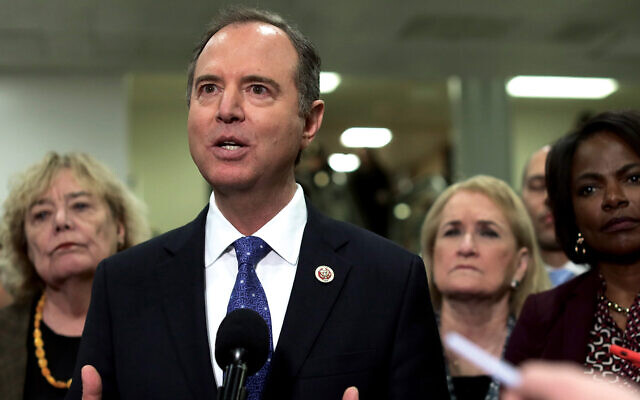 California Rep. Adam Schiff, one of the House impeachment managers, who has been subjected to anti-Semitic vitriol. Getty Images