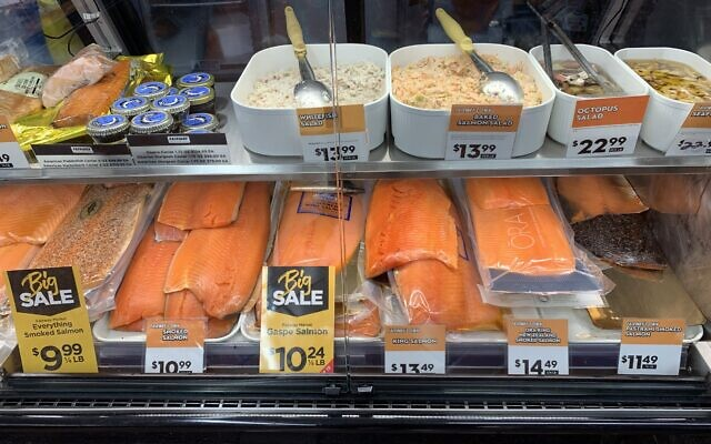 The Fairway chain is known for their legendary lox selection. Shira Hanau/JW