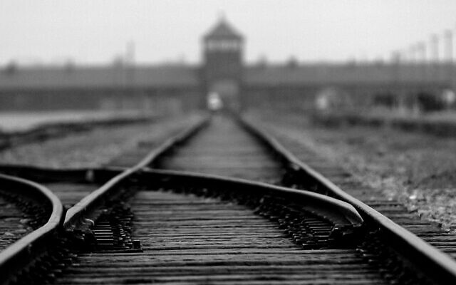 The train tracks leading to the death camp of Auschwitz in Poland. Photo by Alexandre MARCHI/Gamma-Rapho via Getty Images/JTA