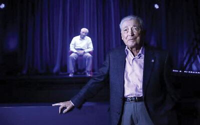 Holocaust survivors  Aaron Elster, is displayed as 3D holograms in Skokie, Ill., museum. Photos by Joshua Lott/AFP