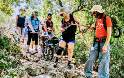 The group of 27 hikers is the largest delegation of climbers with disabilities ever to trek up Mount Kilimanjaro. Pictured here is a previous trek organized by Access Israel. Courtesy of Friends of Access Israel